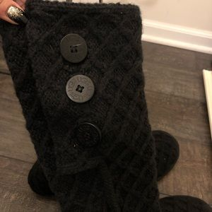 UGG Shoes - NWOB UGG cable knit tall boots black Sz 7